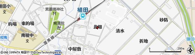 愛知県豊橋市植田町(北畑)周辺の地図