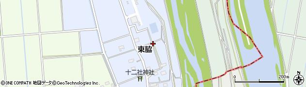 静岡県磐田市東脇周辺の地図