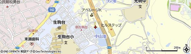 生駒市消防団 機動第2分団周辺の地図