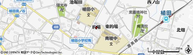 愛知県豊橋市植田町(的場)周辺の地図