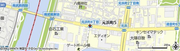 元浜町4周辺の地図