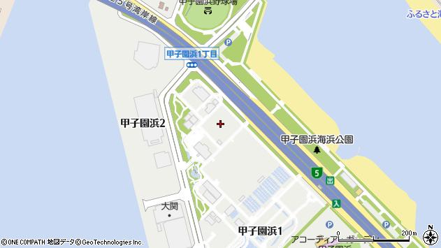 〒663-8155 兵庫県西宮市甲子園浜の地図