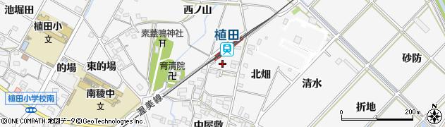 愛知県豊橋市植田町(中畑)周辺の地図