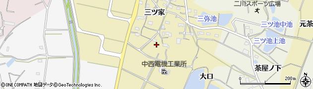 愛知県豊橋市三弥町周辺の地図
