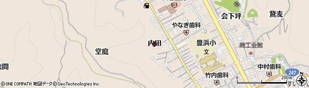 愛知県南知多町(知多郡)豊浜(内田)周辺の地図