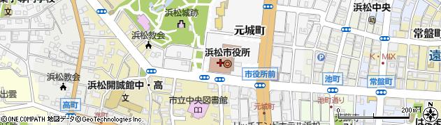 静岡県浜松市中区周辺の地図