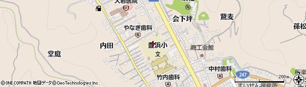 愛知県南知多町(知多郡)豊浜(下大田面)周辺の地図