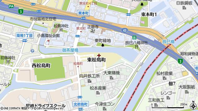 〒660-0831 兵庫県尼崎市東松島町の地図