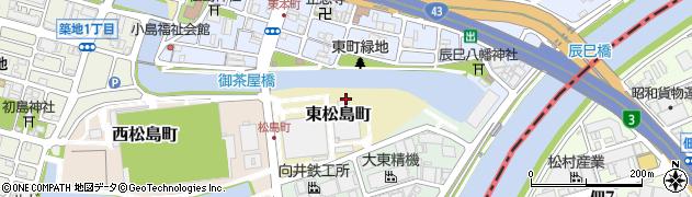 兵庫県尼崎市東松島町周辺の地図
