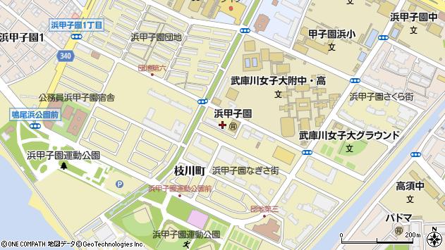 〒663-8143 兵庫県西宮市枝川町の地図