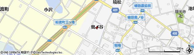 愛知県豊橋市植田町(奥ノ谷)周辺の地図