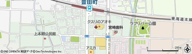 静岡県磐田市上本郷周辺の地図