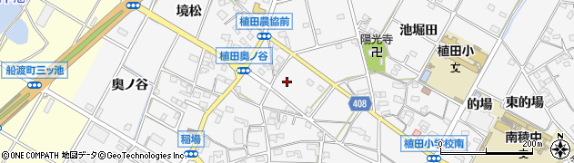 愛知県豊橋市植田町(稲場)周辺の地図