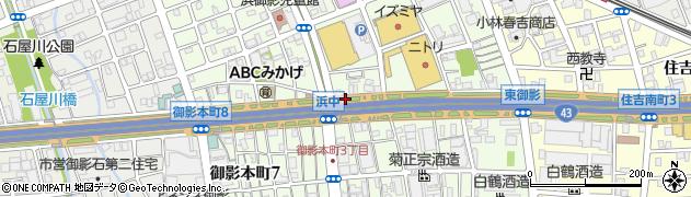 兵庫県神戸市東灘区御影本町周辺の地図