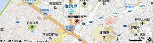大阪府大阪市西淀川区周辺の地図