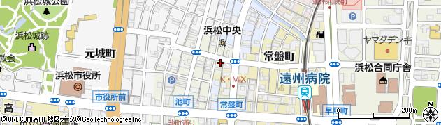 静岡県浜松市中区尾張町周辺の地図