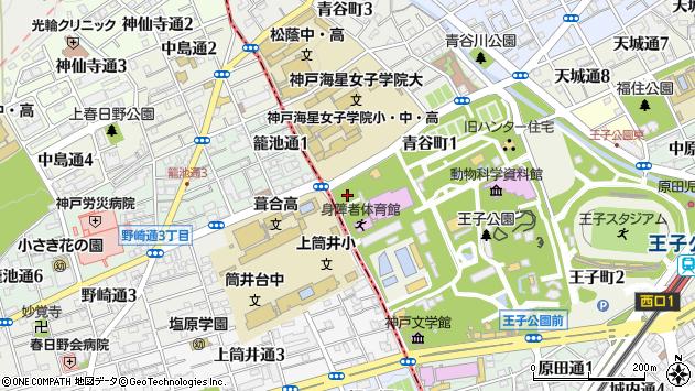 〒657-0805 兵庫県神戸市灘区青谷町の地図