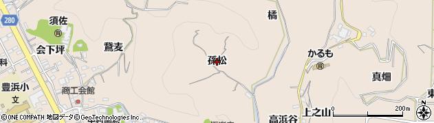 愛知県南知多町(知多郡)豊浜(孫松)周辺の地図