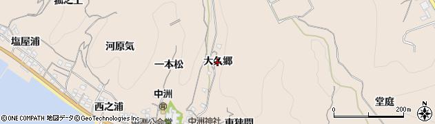 愛知県南知多町(知多郡)豊浜(大久郷)周辺の地図