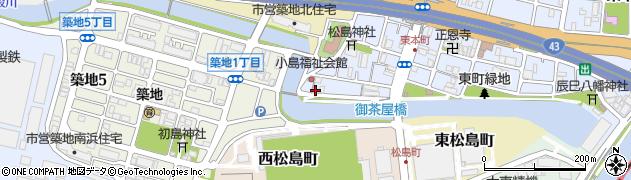 兵庫県尼崎市東本町4丁目周辺の地図