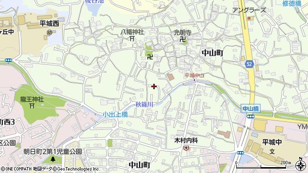 〒631-0012 奈良県奈良市中山町の地図