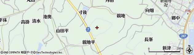 愛知県南知多町(知多郡)片名(親地平)周辺の地図