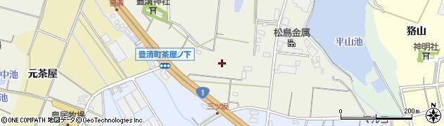 愛知県豊橋市豊清町周辺の地図