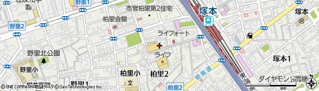 大阪府大阪市西淀川区柏里周辺の地図