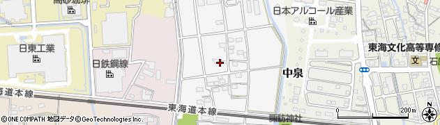 静岡県磐田市海老塚周辺の地図