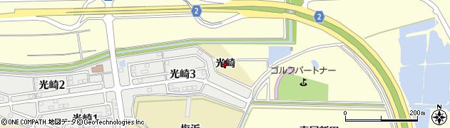 愛知県田原市波瀬町(光崎)周辺の地図