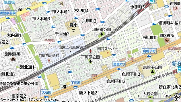〒657-0045 兵庫県神戸市灘区下河原通の地図
