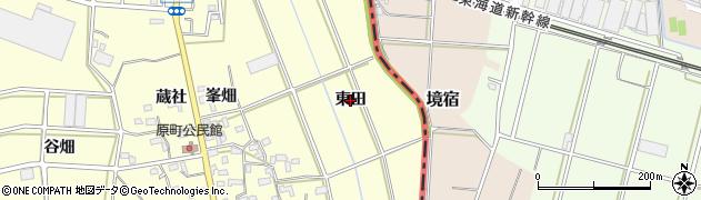 愛知県豊橋市原町(東田)周辺の地図