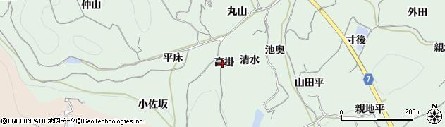 愛知県南知多町(知多郡)片名(高掛)周辺の地図