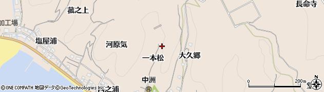 愛知県南知多町(知多郡)豊浜(一本松)周辺の地図