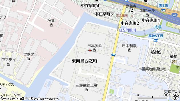 〒660-0856 兵庫県尼崎市東向島西之町の地図