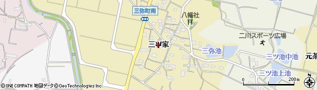 愛知県豊橋市三弥町(三ツ家)周辺の地図