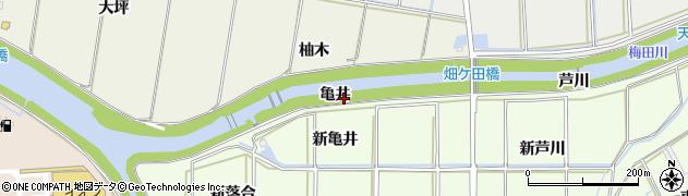 愛知県豊橋市畑ケ田町(亀井)周辺の地図