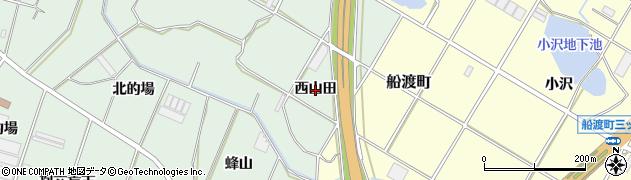 愛知県豊橋市大崎町(西山田)周辺の地図