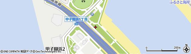 兵庫県西宮市甲子園浜周辺の地図