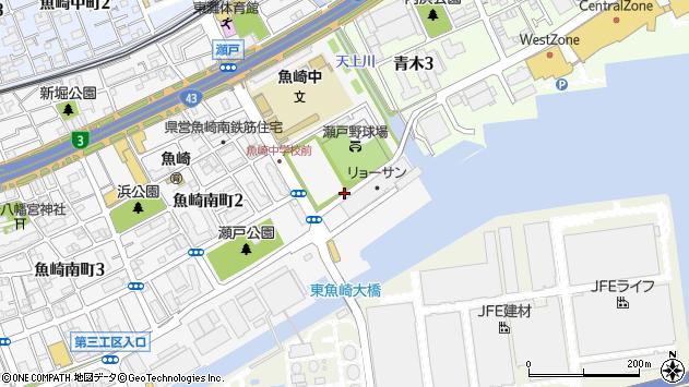 〒658-0025 兵庫県神戸市東灘区魚崎南町の地図