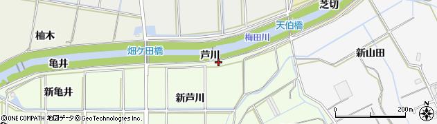 愛知県豊橋市畑ケ田町(芦川)周辺の地図
