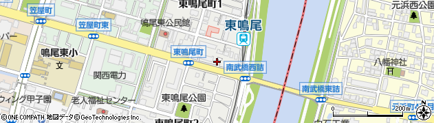 兵庫県西宮市東鳴尾町周辺の地図