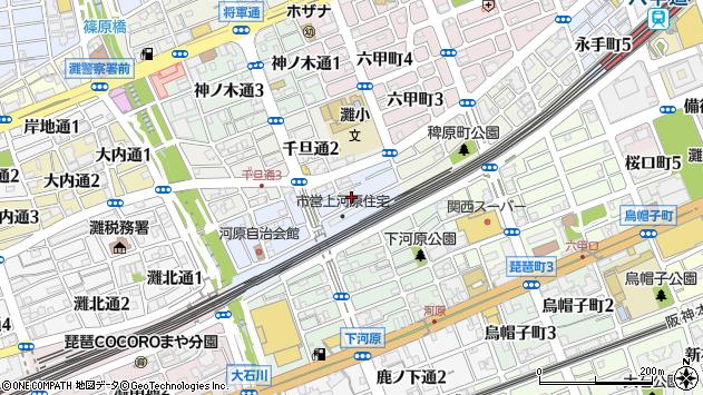 〒657-0055 兵庫県神戸市灘区上河原通の地図
