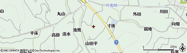 愛知県南知多町(知多郡)片名(山田平)周辺の地図