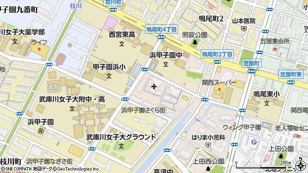 〒663-8185 兵庫県西宮市古川町の地図