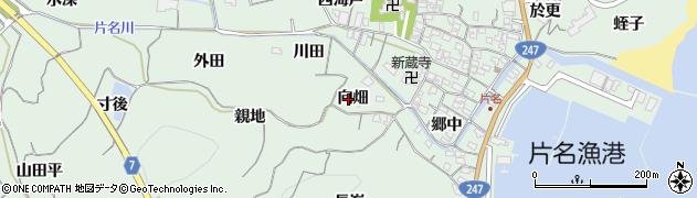愛知県南知多町(知多郡)片名(向畑)周辺の地図