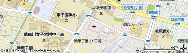 兵庫県西宮市古川町周辺の地図
