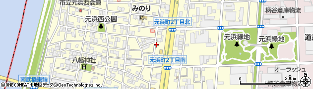 兵庫県尼崎市元浜町周辺の地図