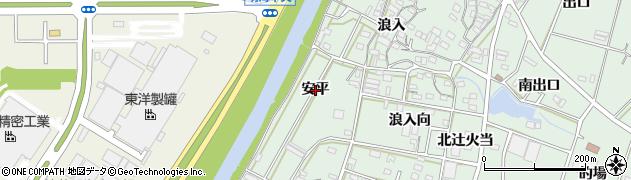 愛知県豊橋市大崎町(安平)周辺の地図