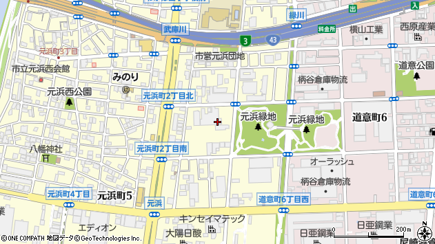 〒660-0085 兵庫県尼崎市元浜町の地図